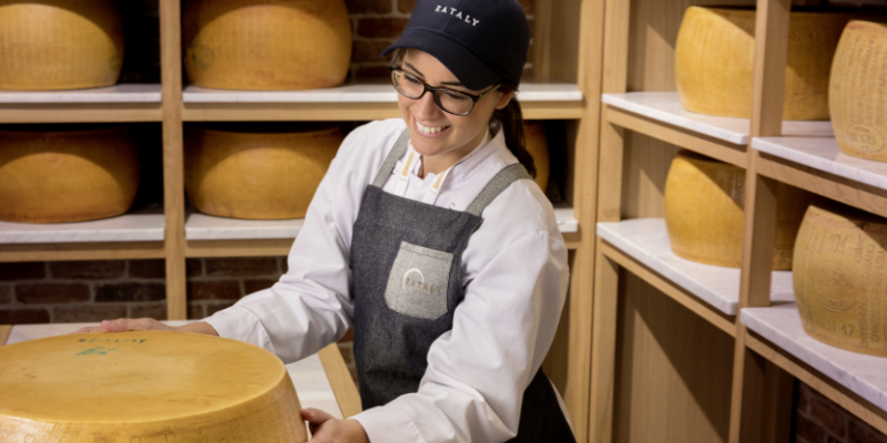 La sale d'affinage de fromage d'Eataly Paris Marais